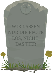 Bild von einem Grabstein